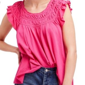 NWT Free People We The Free Pink Coconut Top